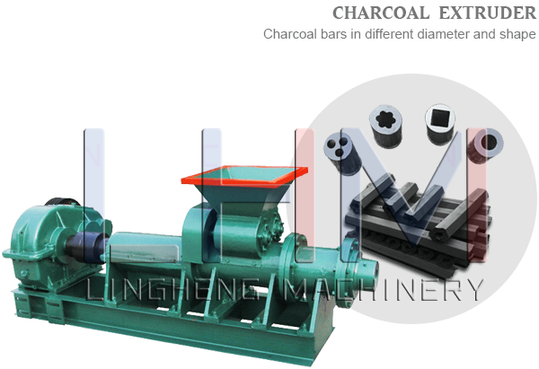 Charcoal Powder Extruder